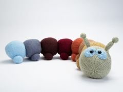 Knitted Caterpillar Draught Excluder by Amanda Berry in Deramores Studio DK