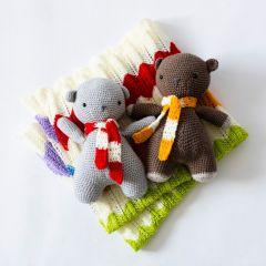 Teddy Bears and Chevron Blanket