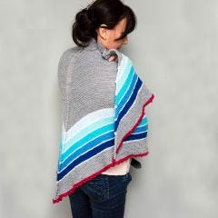 Ombre Striped Shawl.