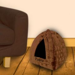 Brown Pyramid Pet Bed