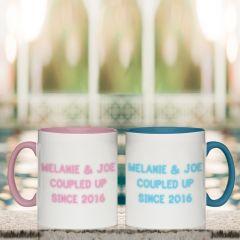 Neon Coloured Mug Set