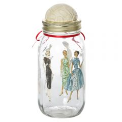 Storage Jar Pin Cushion- Plain