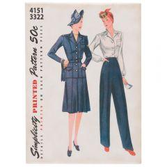 Vintage Sewing Pattern Magnet- Blue