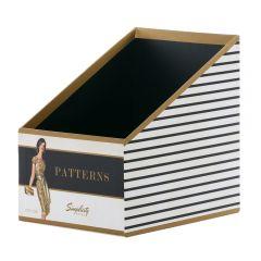 Sewing Pattern Box- Black Stripe