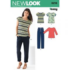 Easy Casual Knit Top and Drawstring Trouser Sewing Pattern