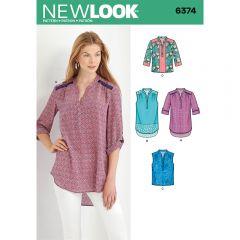 Contrast Yoke Top Sewing Pattern