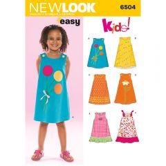 Children's Sleeveless Summer Dress Sewing Pattern