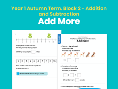 Y1 Autumn Term – Block 2: Add more maths worksheets