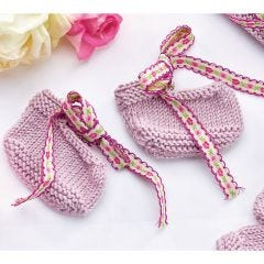 Adorable Baby Accessories Trio Knitting Pattern