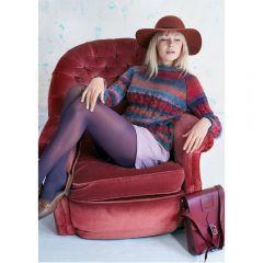 Autumn Textured Knit Jumper Knitting Pattern