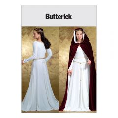 Medieval Dress and Cape Costume Sewing Pattern