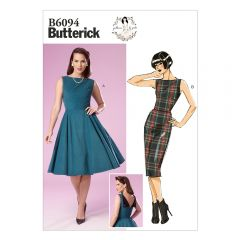 Flared or Fitted Dress Sewing Pattern