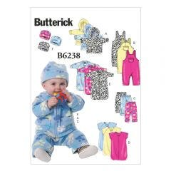 Infants Jacket, Overalls, Pants, Bunting and Hat Sewing Pattern
