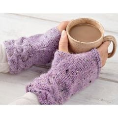 Pretty Cable Fingerless Mittens Knitting Pattern