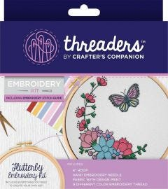 Threaders - Embroidery Kit - Flutterby