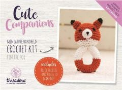 Cute Companions -  Fin the Fox Miniature Handheld Crochet Kit