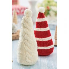 Christmas Cone Decorations Knitting Pattern