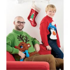 Christmas Jumpers For All The Family Knitting Pattern