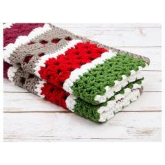 Christmas Chunky Blanket Crochet Kit and Pattern