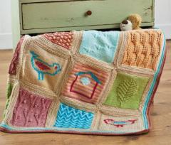 Little Birds Blanket Pattern