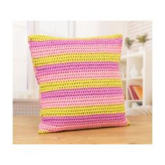 Striped Crocheted Cushions by Jellybean Junction in Deramores Studio DK