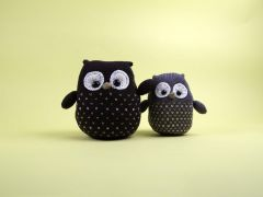 Knitted Owls by Amanda Berry in Deramores Studio DK