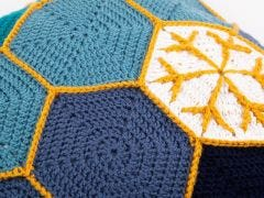 Starry Night Blanket & Cushion Set Crochet Kit and Pattern