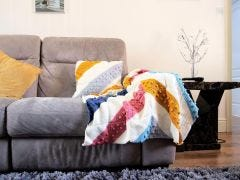 Winter Brights Blanket and Cushion Crochet Kit and Pattern
