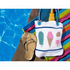 Ice Cream Tote Bag Crochet Kit and Pattern