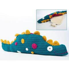 Dino Hot Water Bottle Cushion Crochet Kit and Pattern