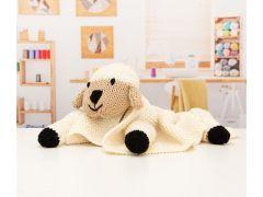 Babies Pram Lamb Blanket Knitting Kit and Pattern