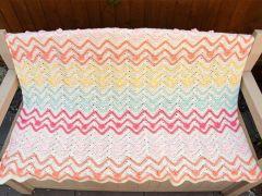 Flowers In The Garden Blanket Crochet Kit and Pattern in Deramores Yarn