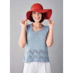 Denim Vest Top Knitting Pattern