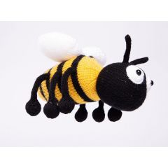 Knitted Honey the Bee in Deramores Studio DK by Amanda Berry