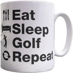 Eat Sleep Golf Mug