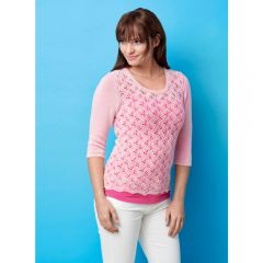 Fitted 3/4 Length Sleeve Sweater Knitting Pattern