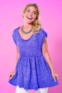 Floaty Summer Tunic Top Knitting Pattern