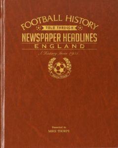 Football Newspaper Book - England