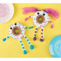 Freddie & Mabel Cheerful Doughnut Pals Knitting Pattern