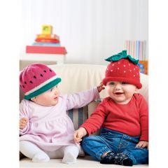 Fruity Baby Beanie Hats Knitting Pattern