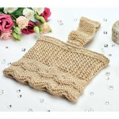 Glitter and Gold Pretty Clutch Knitting Pattern