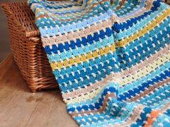 Granny Block Blanket Crochet Kit and Pattern