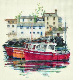 Fishing Village Counted Cross-Stitch Kit