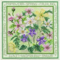 Spring Flowers Counted Cross Stitch Kit