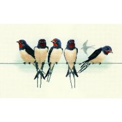 Swallows Counted Cross-Stitch Kit