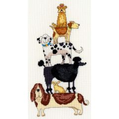 Dog Stack Counted Cross Stitch Kit