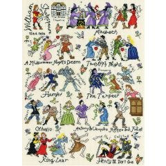 Shakespeare Characters Counted Cross Stitch Kit