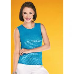 Lacy Vest Top Knitting Pattern