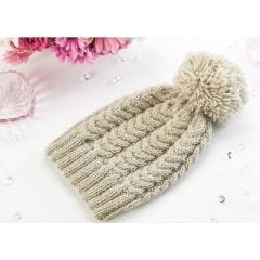 Learn To Knit A Cable Hat Knitting Pattern