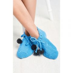 Learn To Knit Slippers Knitting Pattern
